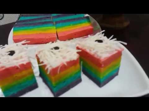 Resep Bolu Kukus Rainbow Lembut