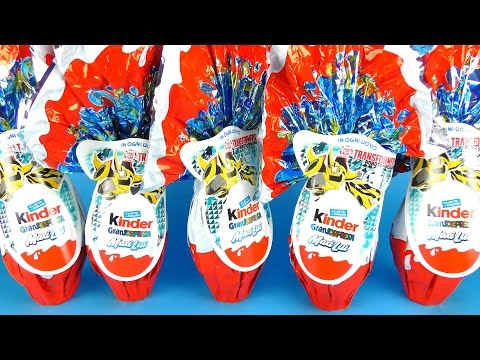 5 Giant TRANSFORMERS MAXI Kinder Surprise Eggs