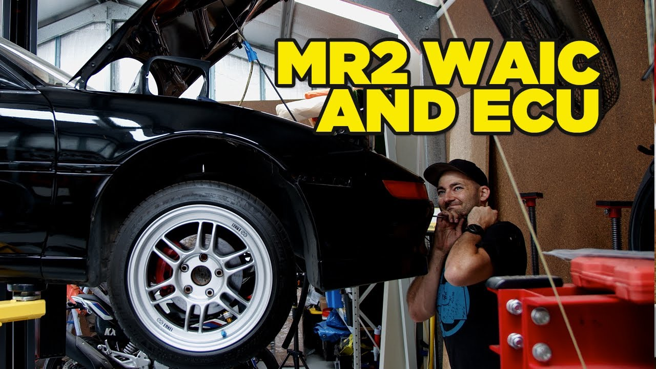MR2 takes Miss Daisy parts (Water to air Intercooler Install)