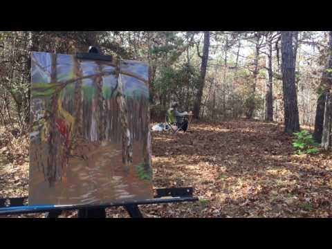 Painting En Plein Air Demonstration – Pastel – Landscape 2, Mentone, AL