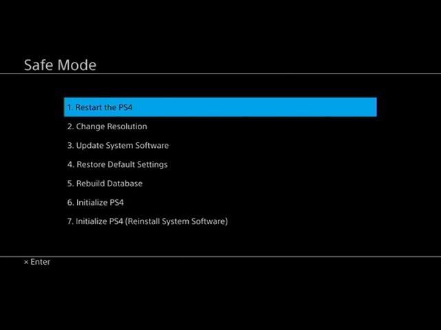 نتيجة بحث الصور عن PS4 Safe Mode