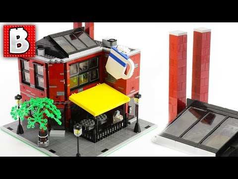 Beautiful LEGO Coffee House MOC In Our City! | Build Time Lapse Review