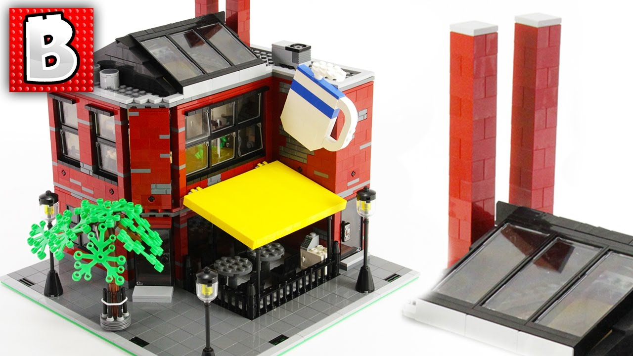Beautiful Lego Coffee House Moc In Our City Build Time Lapse