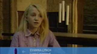 Evanna Lynch (Luna Lovegood)  First Interview