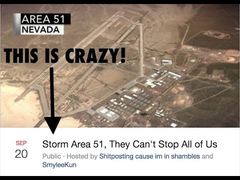 300K people are signed up to 'Storm Area 51' and 'see them aliens'