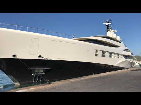 DOUBLE SUPERYACHT video! Coolest and biggest in Marina Ibiza now!