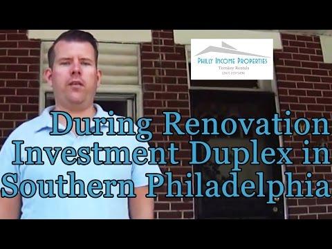 During Renovation Tour of Investment Duplex in Southwest Philadelphia