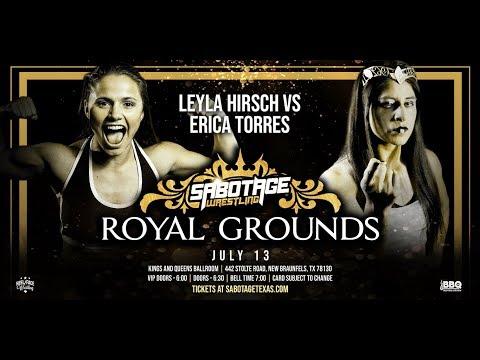 [FREE MATCH] Erica Torres Vs Leyla Hirsch At Sabotage Wrestling