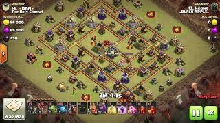 10v10 Sui Hero Lalo | _Black Apple _ vs The Holy Cronut | CWL | Clash of Clans