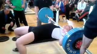Andrew Scully Bench Press 155kgs (341lbs)