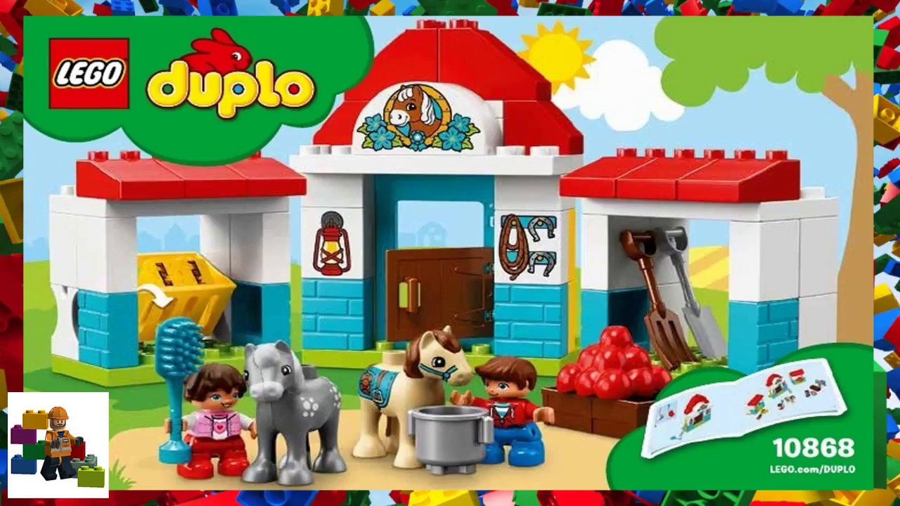 Lego Instructions Duplo 10868 Farm Pony Stable Youtube
