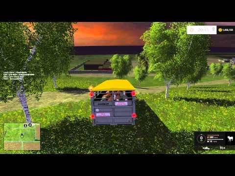 Farming Simulator 15 PC Mod Showcase: Livestock Trailer