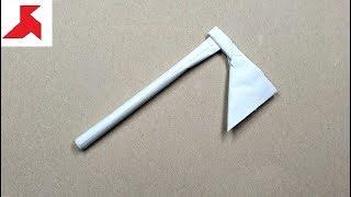 DIY - Как сделать ТОПОР из бумаги а4 своими руками?