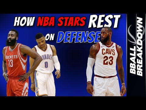 How NBA Stars Rest On Defense