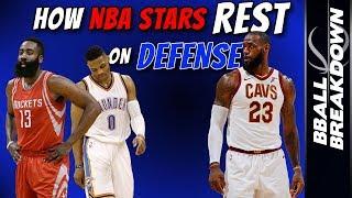 How NBA Stars Rest On Defense