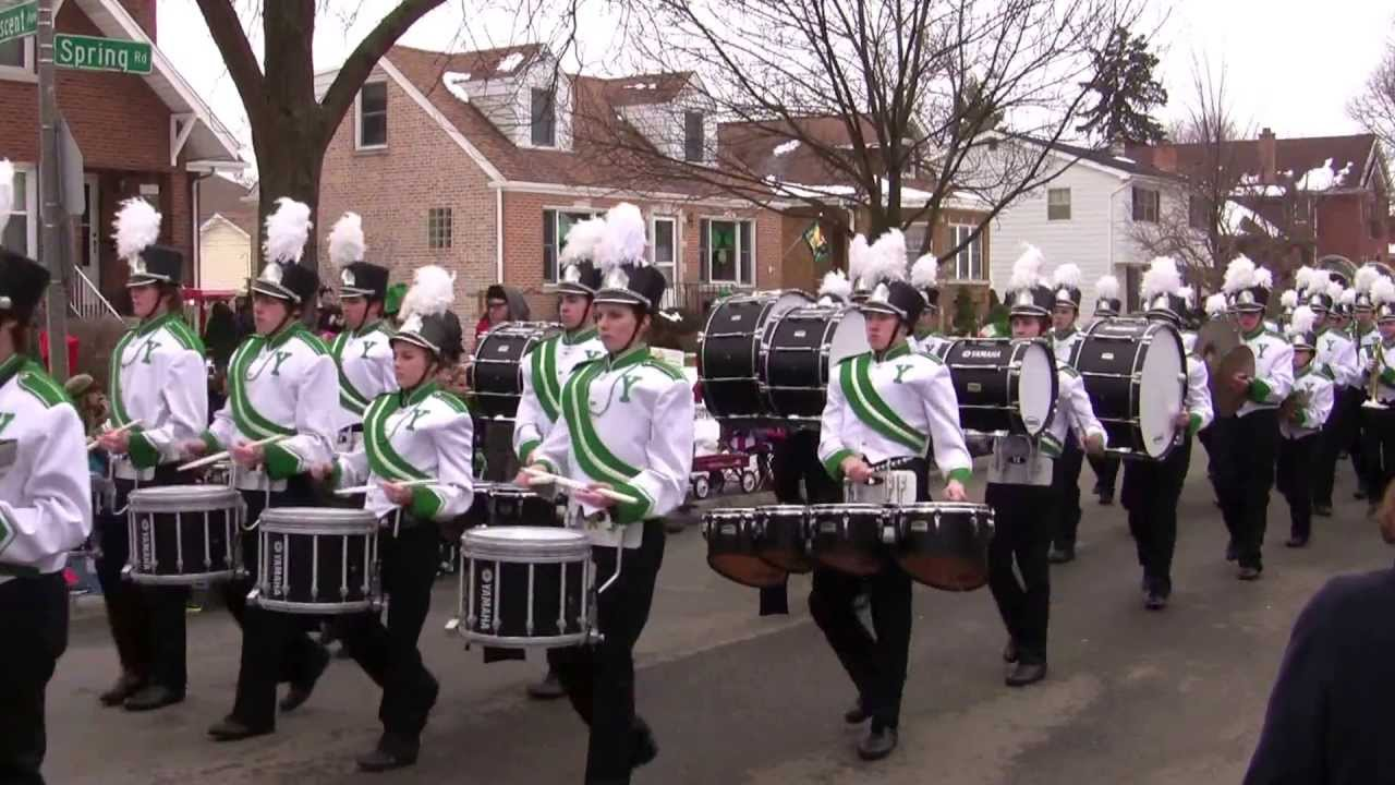 York Community High School Marching Band 2013 St Patrick's ...