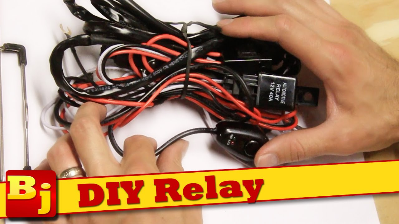 Diy Led Light Bar Harness How To Make Your Own Youtube Auxiliary Lights Wiring For Jeep Premium