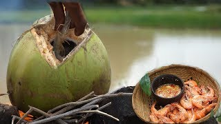 ABC Food cuisine: Cooking biggest shrimp in coconut Fruit Delicious Recipe/food Cuisine