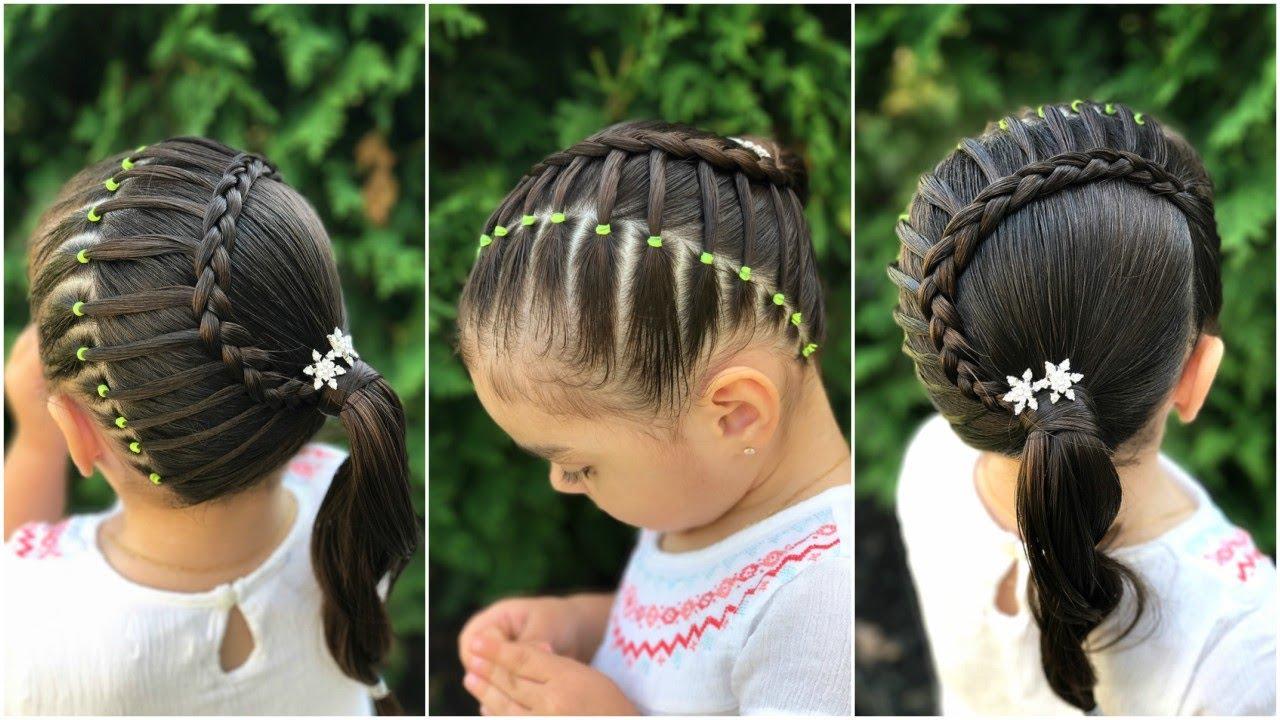 Peinado Para Ninas Con Ligas Y Trenza En Media Luna Peinados Faciles