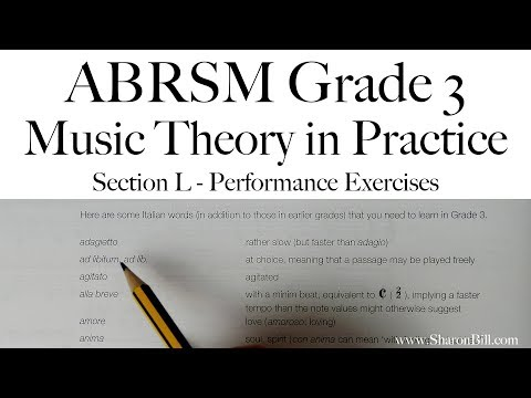 ABRSM Grade 3 Music Theory Section L Performance Exercises with Sharon Bill