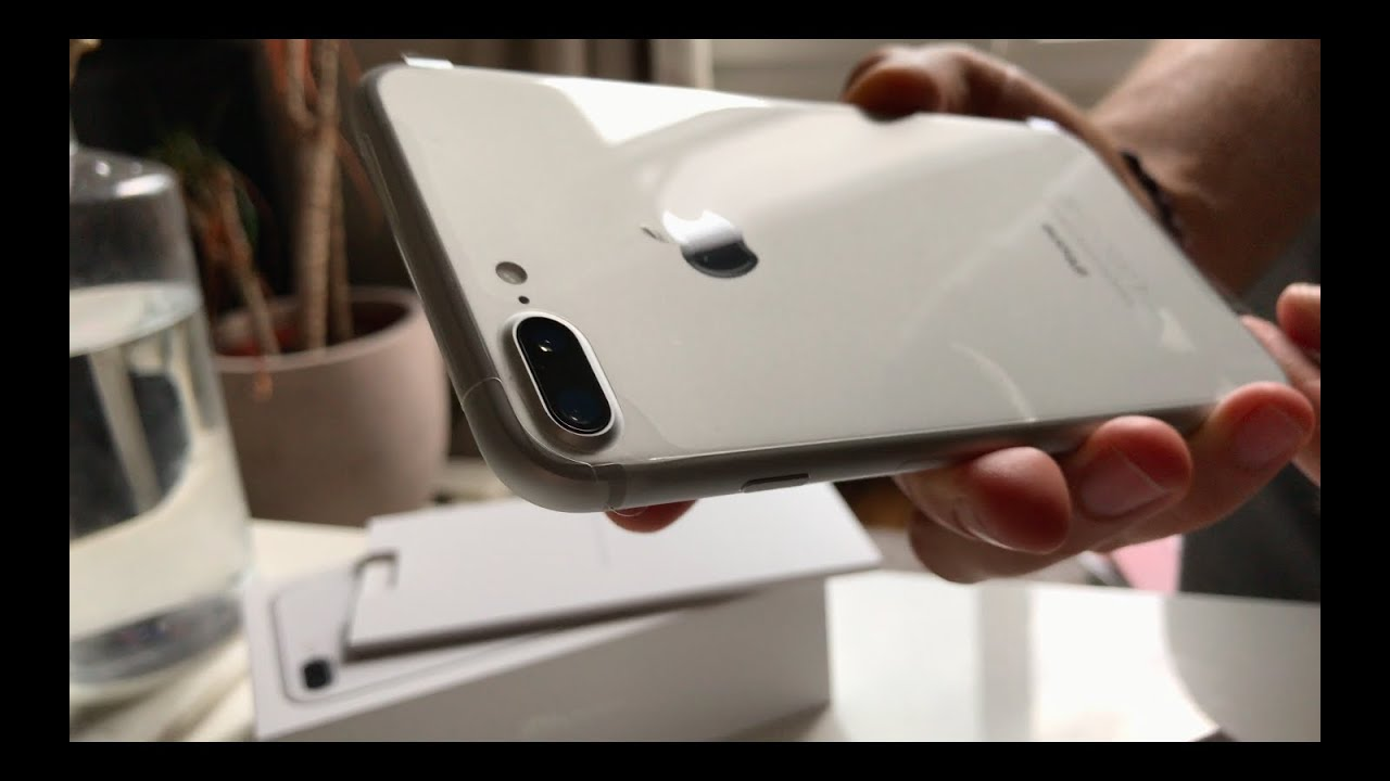 Unboxing Apple IPhone 7 PLUS SILVER [Shoot in 4K by iPhone ...