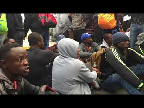 Migrants From Cameroon Protest Immigration Process In Tijuana