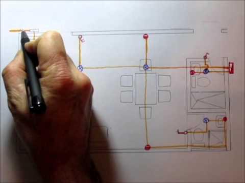 Instalaciones el ctricas de una casa en planos youtube for Como crear un plano de una casa