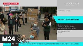Датские школьники вышли на митинг против дистанционного обучения - Москва 24