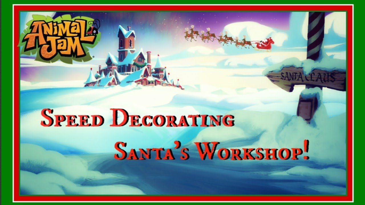Download Animal Jam: Speed Decorating Santa's Workshop!
