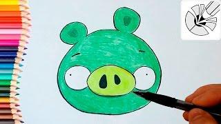 Как нарисовать Свинью карандашом (Энгри Бердс) - Рисование и раскраска для детей(Развивающее видео для детей. В этом видео я показываю как нарисовать Свинью карандашом - персонаж Энгри..., 2016-05-11T09:12:09.000Z)