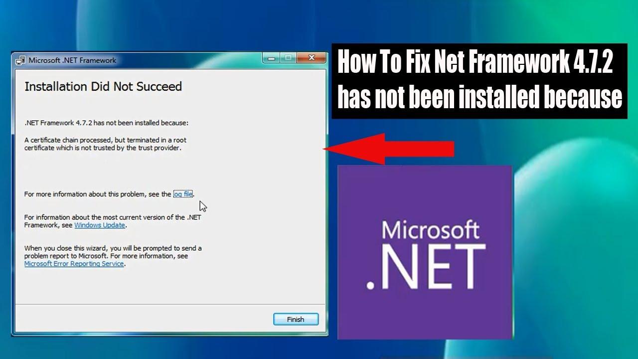 How To Fix Instal Net Framework 200.200.20 has not been installed ...