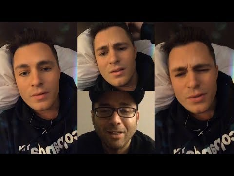 Colton Haynes | Instagram Live Stream | 1 February 2018