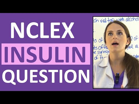 NCLEX Diabetes Mellitus Practice Question on Insulin | Pharmacology Review