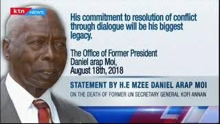 Rais mstaafu Daniel Toroitich Arap Moi atoa rambi rambi zake kwa familia ya marehemu Kofi Annan