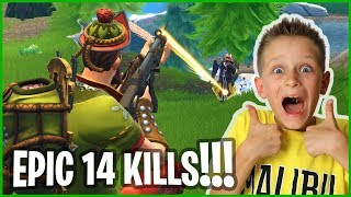 14 Kills Epic Victory Royale with HACIVAT!