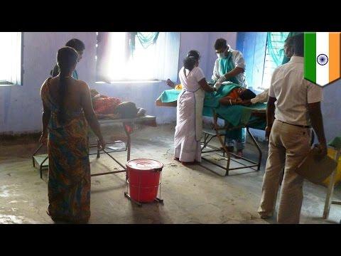 インドでずさんな集団避妊手術 女性13人死亡