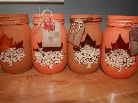 Diy Autumn Decor Mason Jars Youtube