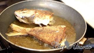 Jamaican Fried Fish Served With Fried Bammies
