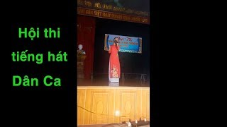 Hà Quỳnh Như tham gia Hội thi tiếng hát Dân Ca trường Trung học 2018