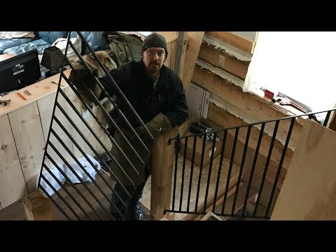 Off-Grid Wrought Iron Railing Project & DIY Handforged Tool To Make Project Easier