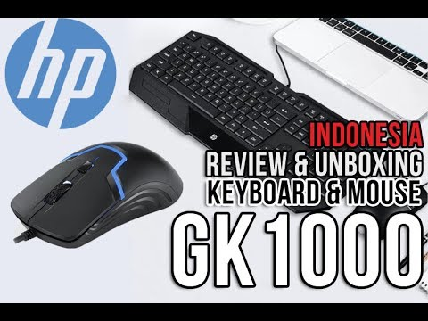 Paket Keyboard & Mouse HP GK1000 | UNBOXING & REVIEW