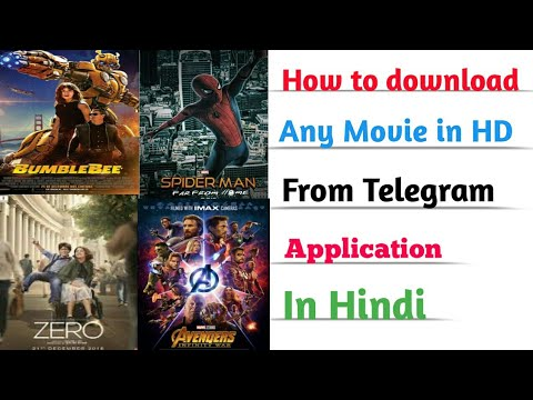 How to download new movie in Hindi from Telegram app|| Bollywood, Hollywood  and south dubbed movies
