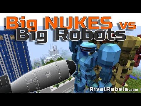Big Nukes Vs Big Robots 2 Wack Experiment In Minecraft