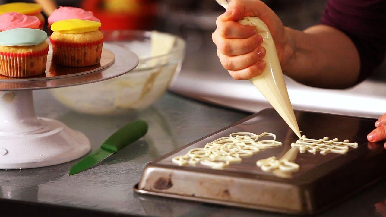 How To Make White Chocolate Decorations Cake Decorating YouTube