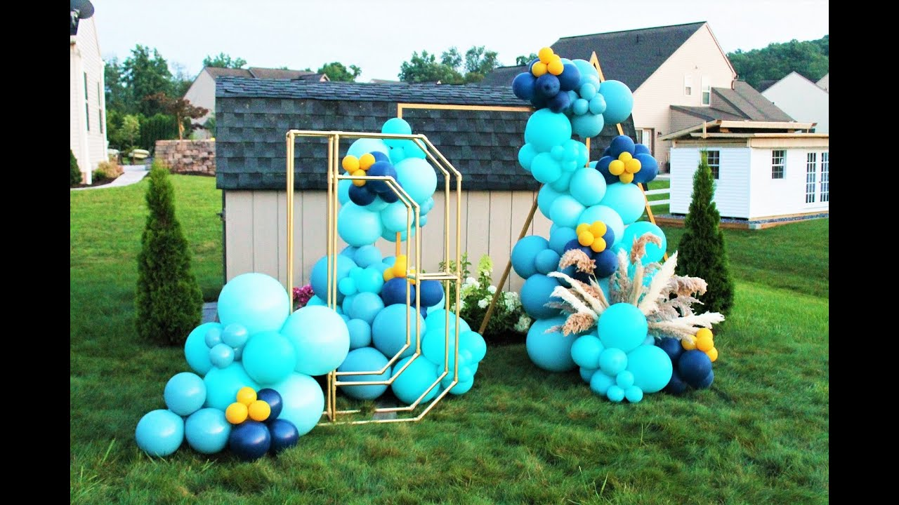 How To Balloon Garland DIY Tutorial   PVC Pipe Letter Tutorial