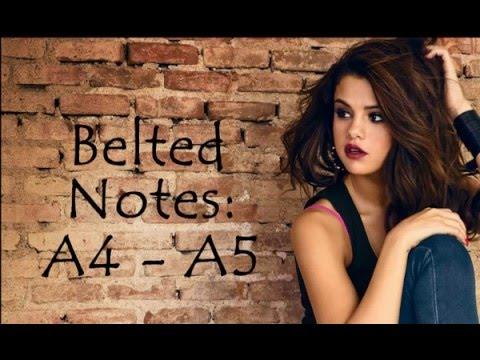 Selena Gomez Full Vocal Range Bb2 - F#5 - C#6