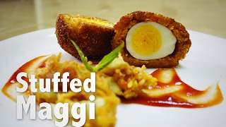 Noodles Scotch Egg Recipe  - Constructed And Deconstructed  Easy And Sexy - Myspoon.
