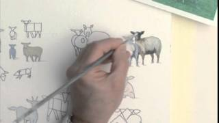 Acrylic Figures Lesson - Sheep, Pigs, Goats
