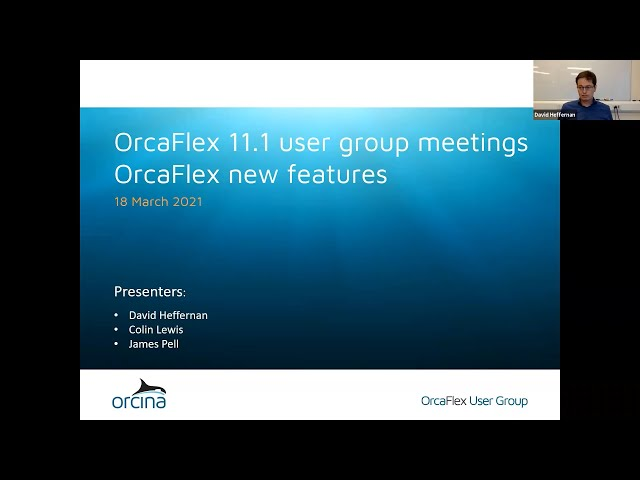 OrcaFlex 11.1 UGM - OrcaFlex new features