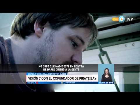 Visión 7 - Peter Sunde, cofundador de Pirate Bay en la Argentina